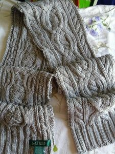 Ralph Lauren cable knit wool blend scarf